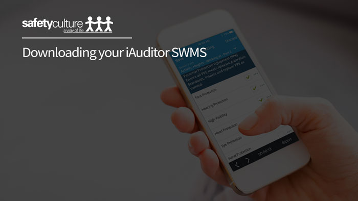 How to download iAuditor SWMS files